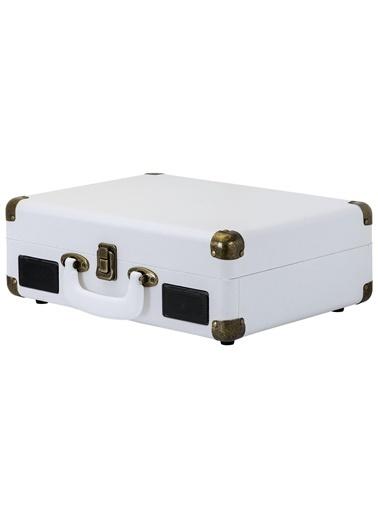 KTOOLS Ktools Nostalgie K344 Beyaz Bluetoothlu Çanta Pikap Renkli